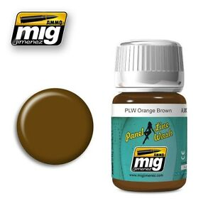 Ammo-of-Mig-A-MIG-1616-Panel-Line-Wash-PLW-Orange-Brown-Wash-Enamel-35ml