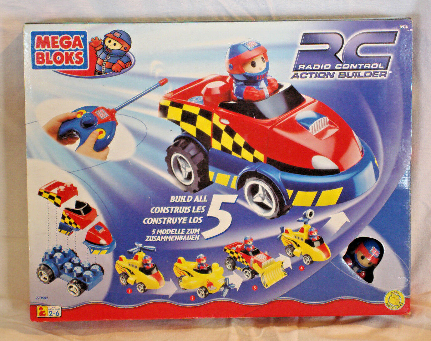 Mega Bloks Radio Control Action Builder  8914 - 2000 - New