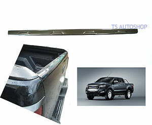 Gray-Back-Liner-Tailgate-Wildtrak-Cover-Trim-For-Ford-Ranger-T6-Mk2-2015-2017
