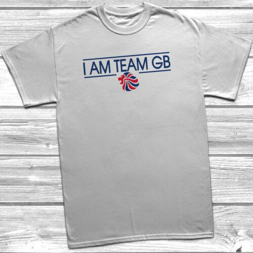 I Am Team GB T Shirt Tee MENS KIDS CHILDREN Union Jack Flag Olympics Tokyo 2020