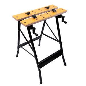 Portable Work Bench Table Folding Tool Garage Repair ...