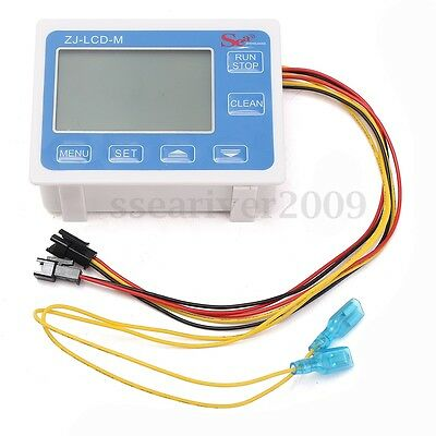 "G3/4"" Flow Water Sensor Meter Digital LCD Display Quantitative Control 1-60L/min"