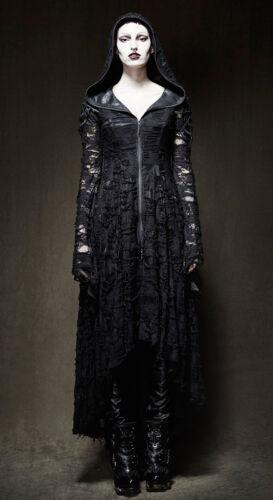 Lolita Punk Destroy Vestido Elven Gothic Hood Punkrave Largo Abrigo Abrigo qxnAAR