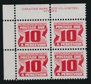"1973-74 Canada SC# J35ii UL ""Third Issue"" Postage Due LF Plate Block M-NH # BB75"