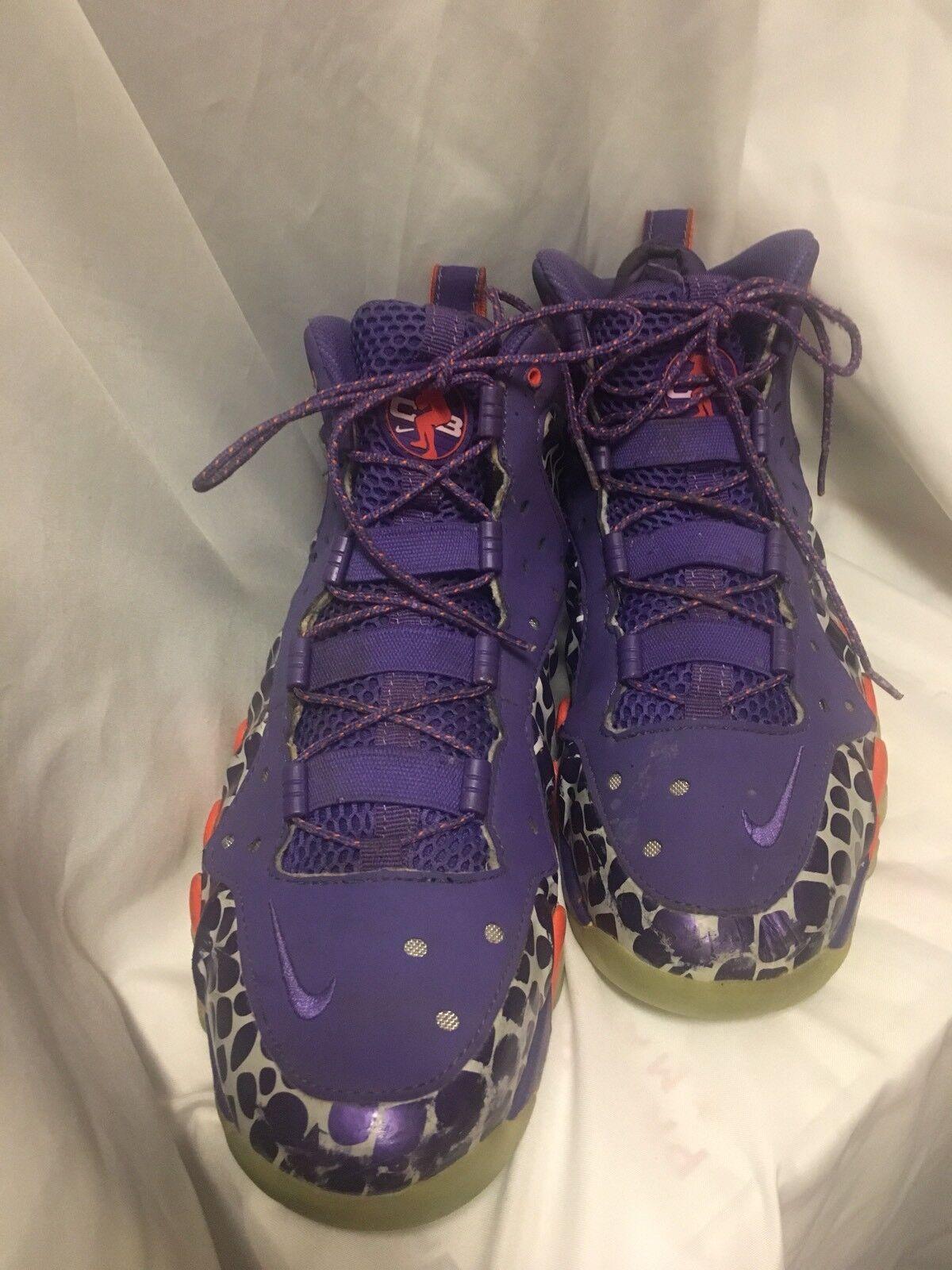 Nike Barkley Posite Max Court Purple/Team Orange Phoenix Suns 555097-581 Sz 11