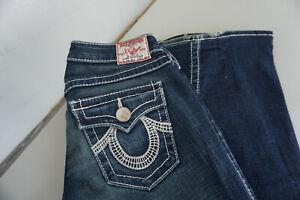 TRUE-RELIGION-Damen-Bootcut-Jeans-stretch-Hose-27-32-W27-L32-L34-blau-TOP-ad18