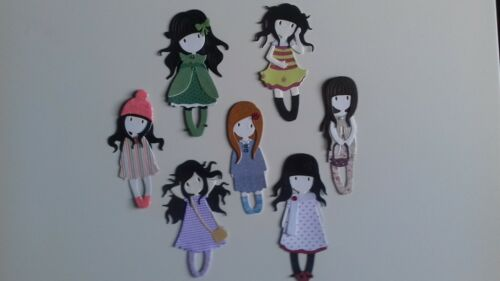 Gorjuss Filles X 7 Handmade Toppers-Costume Anniversaire Fille Maman Soeur amis
