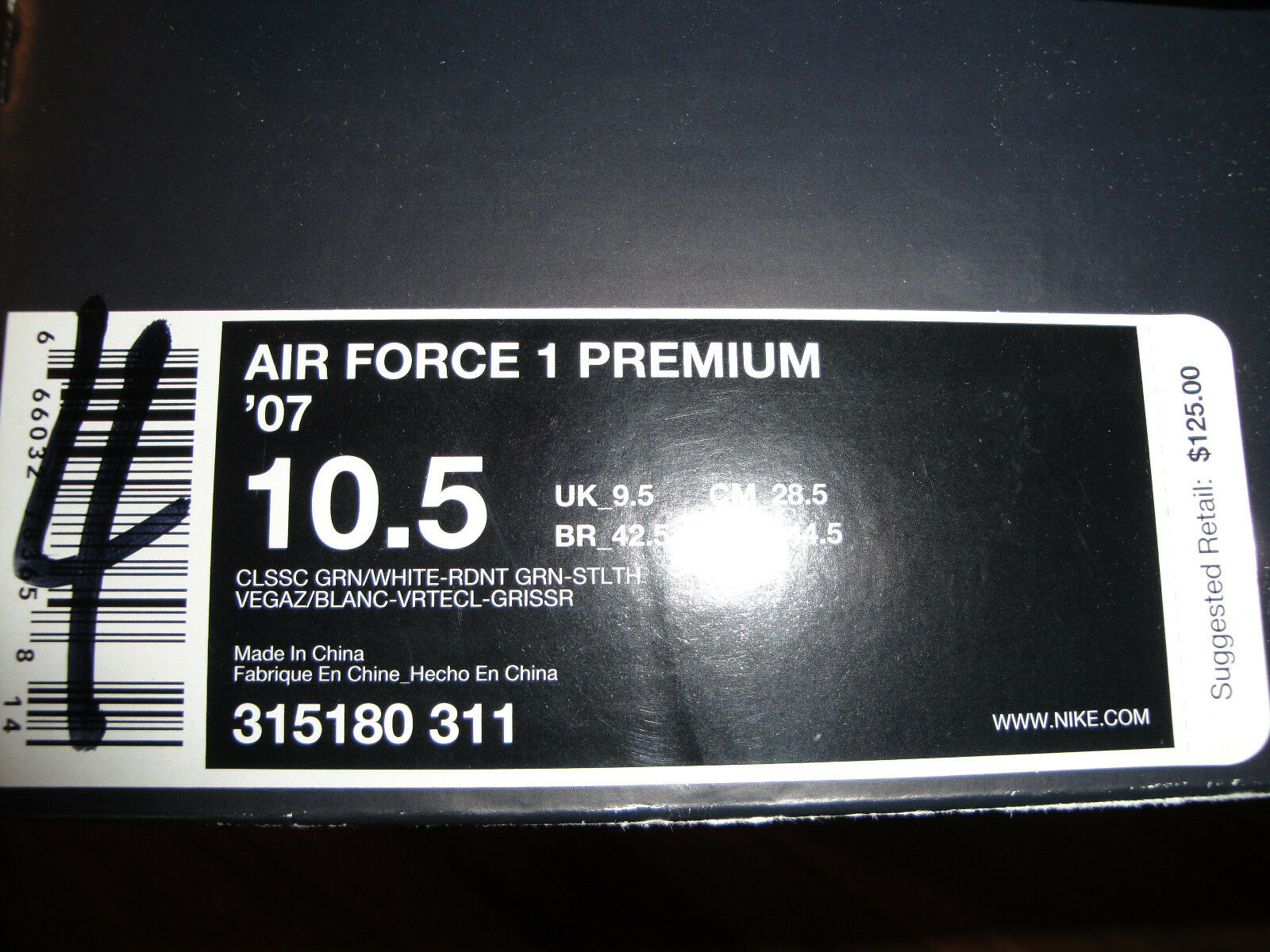 Nike Air Force One '07 Premium  Choz  South South South Bronx Größe 10.5 Style  315180-311 674c70