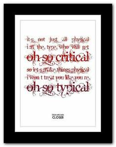 Tegan-and-Sara-Closer-song-lyric-typography-poster-art-print-A1-A2-A3-or-A4