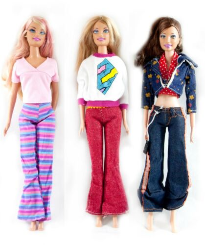 "5 Pants /& 5 shoe for 11.5/"" Doll Wholesale 15 Doll Clothes Set 5 Clothes Outfit"