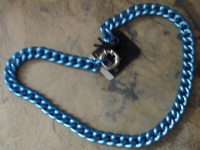 Uhren & Schmuck Ehrlich Damen Panzerkette Kette Collier Aluminium Eloxiert Farbe Blau Schmuck 1569 Gute WäRmeerhaltung