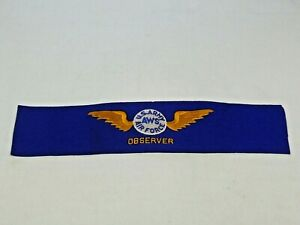 Details about Vintage WWII Era U S  Army AWS Air Force Observer Felt Arm  Band