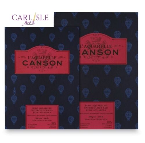 Choose Your Size Watercolour Pads Hot Pressed Canson Heritage
