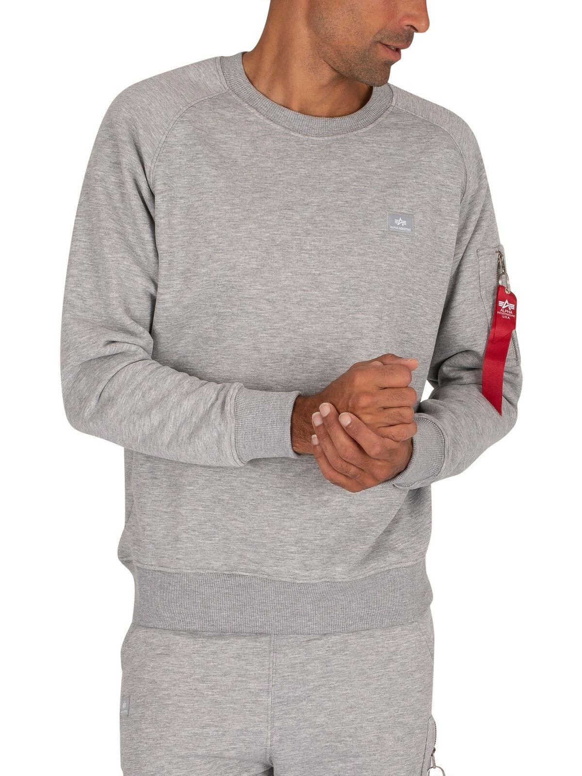 Alpha Industries Men's X-Fit Sweatshirt, Grey