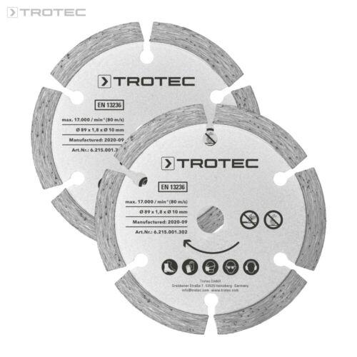 2-teiligKreissägeSägen TROTEC Tauchsägeblätter-Set 2 Diamant Ø 89 mm