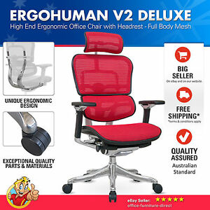 ergohuman v2 deluxe chair high back mesh ergonomic office chairs