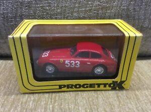 FERRARI-166MM-VIGNALE-1952-MILLE-MIGLIA-ENTRY-1-43-PROGETTO-K-MODEL-BOXED