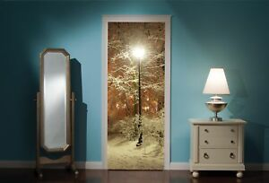 Door-Mural-Winter-Similar-to-Narnia-View-Wall-Stickers-Decal-Wallpaper-325