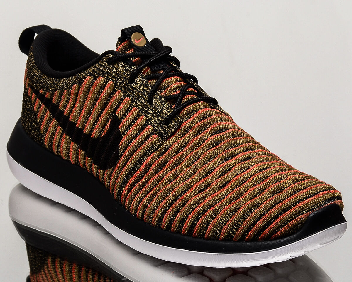 Nike Roshe Two Flyknit 2 homme lifestyle  sneakers NEW  noir  lifestyle max orange 844833-009 47bcee