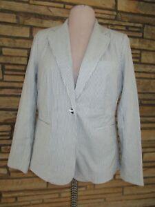 Initiative Nwt Tyler Boe Sz 10 Seersucker Blazer Jacket Pinstripe Pockets Msrp $186 Unequal In Performance