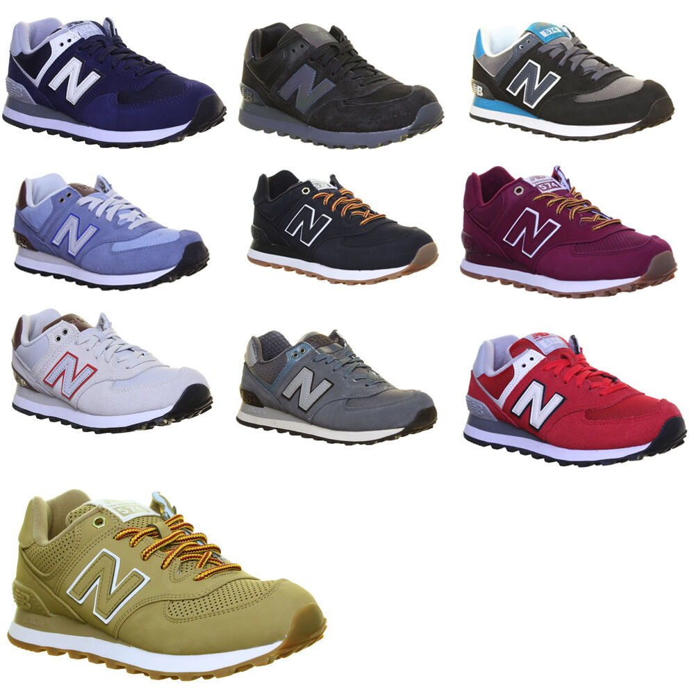 New Balance Ml574 homme Suede Leather Trainers