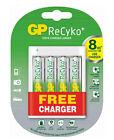 GP Powerbank Charger U411 With 4 ReCyko Pro AA