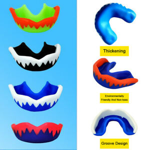 Professional Mouth Guard Muay Safety Soft EVA Mouth Protective Teeth Guard Sp CW
