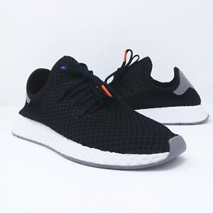 7e31a9c344f05 Image is loading Adidas-Originals-Deerupt-Runner-Black-White-Grey-Mens-