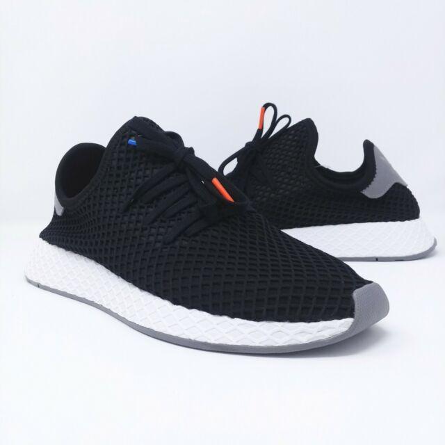 864b3ba4 Adidas Originals Deerupt Runner Black White Grey Mens Shoes Multi Size  B41765