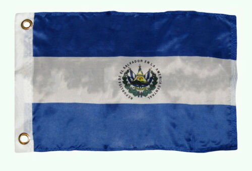 "12x18 12/""x18/"" Country of El Salvador Boat Motorcycle Flag Grommets"