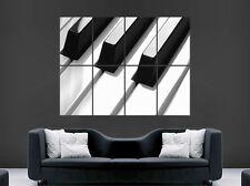 TASTI di Pianoforte Musica Note POSTER WALL ART immagine di grandi dimensioni