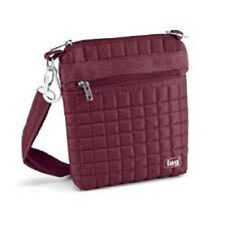 Lug Travel SKIPPER Small Pouch Bag Lightweight  Crossbody Gift CRANBERRY RED