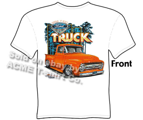 56 Truck T Shirts F100 Ford Tee 1956 Pick Up Clothing Classic Sz M L XL 2XL 3XL