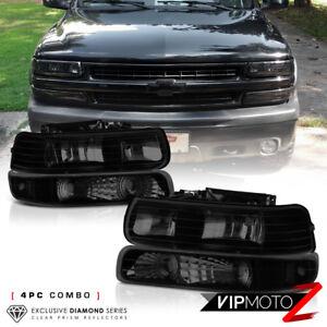 1999-2002-Chevrolet-Silverado-2000-2006-Suburban-Tahoe-Fume-Fonce-Phares