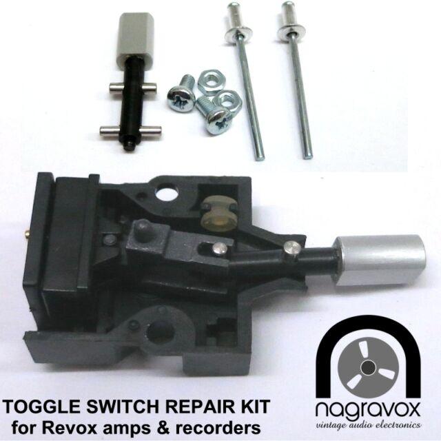 3x REVOX Toggle Switch Repair Kit for Revox  B77 PR99 A710 B710, B750 & others