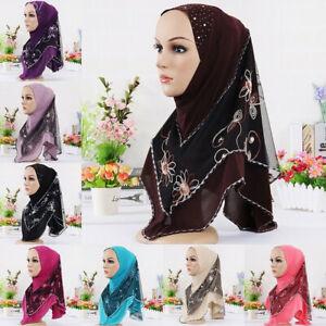 Womens-Islam-Chiffon-Plain-Basic-Headscarf-Shawl-Scarf-Hijab-Wrap-Headwear-Lot