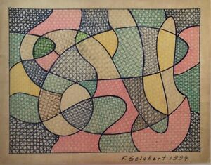 Original painting by Florencio Gelabert, Untitled, 1994, signed by the artist.