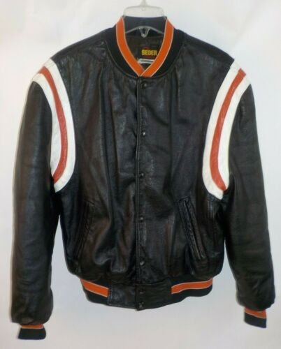 Vintage 1970's All Leather Varsity Bomber Jacket B