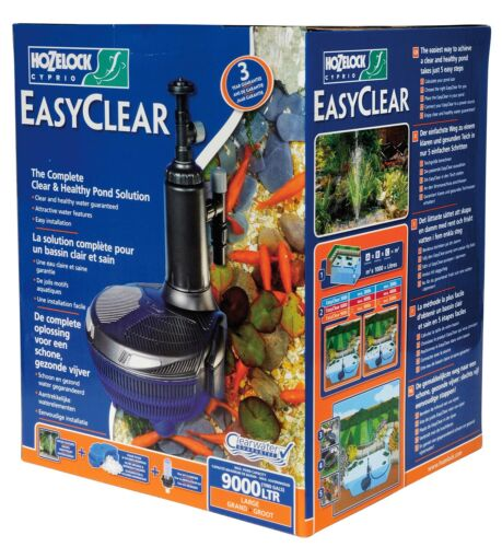 Hozelock Easyclear All In One Pond Filter//Pump /& UV 9000 Large