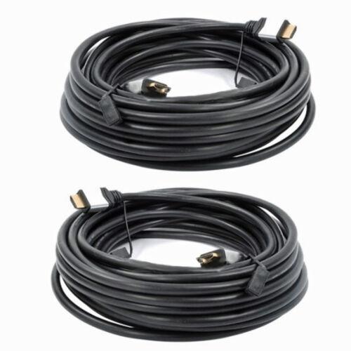 10 M Extra Long Triple blindé OR PC Portable Projecteur Câble HDMI plomb 3D HD x2