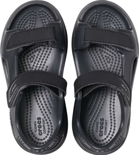 Crocs SWIFTWATER EXPEDITION 206267 Kids Casual Dress Sandals Black//Slate Grey