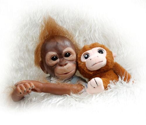 Real Look Reborn Monkey Bebe Silicone Vinyl Dolls Lifelike Reborn Baby Ape Dolls