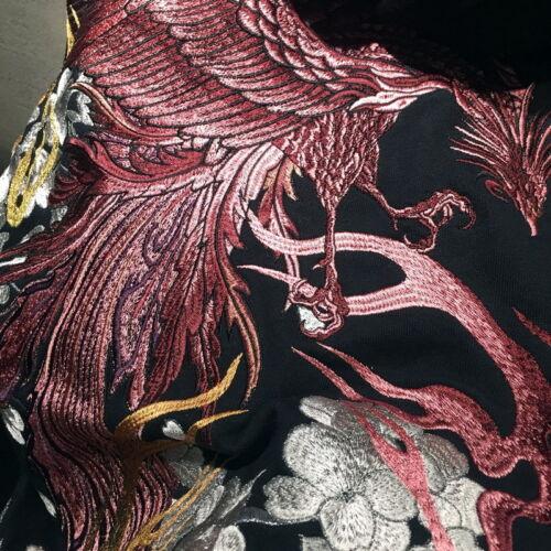 Hoodie Japanese Pattern Embroidered Hooded Sweatshirt Sukajan Zip Jacket Phoenix