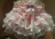 REDUCED Raspberry Double Layer Satin Frou Frou Ultra Frilly Panties Sissy CD TV