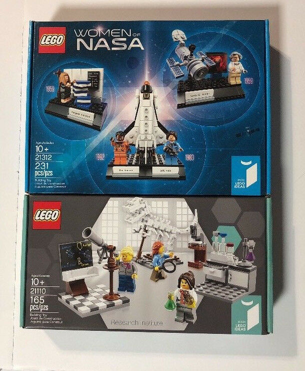 LEGO Ideas LOT Research Institute 21110 & Damens of NASA 21312 - New In Box