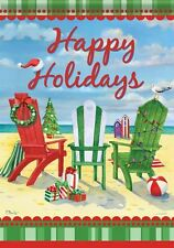 Happy Holidays Beach Ocean Christmas Double Sided Garden Flag 12x18 Irregular For Sale Online Ebay