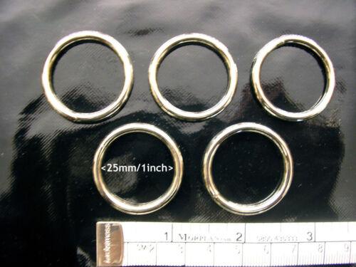 25mm//2.5cm Cinq Diamètre Interne Métal Anneau Soudé