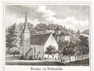 Kirche Mit Schloss Kukuckstein Intellektuell Liebstadt Lithografie 1840 Kirchen-galerie