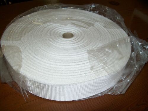 "1 50mtr ROLL 38mm 112"" POLYPROPOLENE WEBBING WHITE"