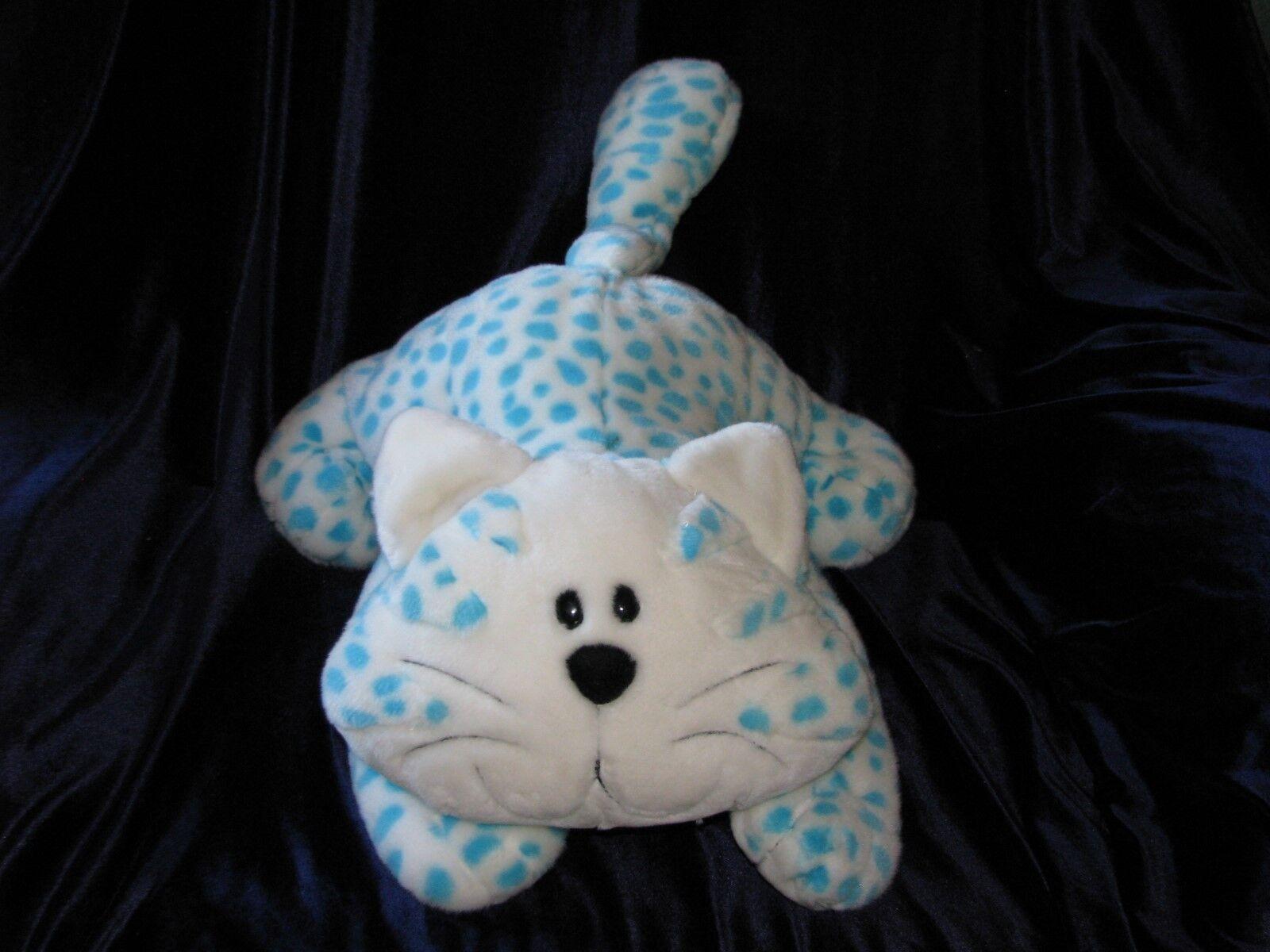 ANIMAL ALLEY STUFFED PLUSH Weiß Blau POLKA DOT SPOT KITTY CAT LEOPARD CHEETAH